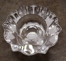Villeroy and Boch Mettlach Christmas Glass Crystal Stick Candle Holder Germany
