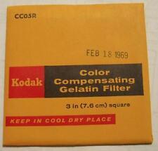 Kodak Color COMPENSADOR GELATINA Filtro N º cc05r 7.6cm OR 7.6cm Cuadrado