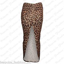New Womens Asymmetric Ruched Side Split Ladies Long Stretch Maxi Gypsy Skirt