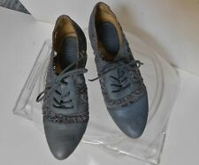 Latigo women's blue lace block heel lace up shoes size 7 M