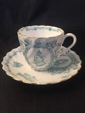 More details for rare antique queen victoria cup and saucer manufactured for harrods stores londo