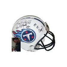 Kevin Dyson signed Tennessee Titans Mini Helmet Music City Miracle & AFC Champs