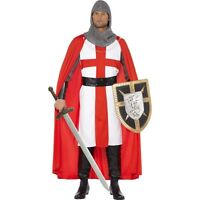 "Men's St George Medieval Knight Crusader Costume England Fancy Dress 38-40"" Stag"