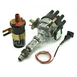 Land Rover Discovery 3.5 3.9 V8 Distributor Ignition Coil & Converter Lead