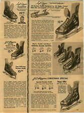 1955 PAPER AD Syl Apps Hockey Ice Skates All Star Toronto Maple Leafs
