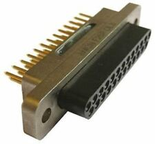Souriau 8 mcnf Serie, agujero de 25 vías a través de micro-D PCB Conector Plug, 2 mm pitch