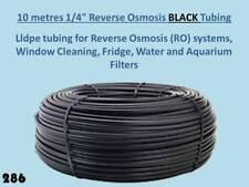 """10 metres 1/4"""" Black lldpe pipe Tubing Reverse Osmosis Water Filter Unit 10m 286"""