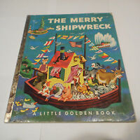 the MERRY SHIPWRECK 170-25 1963A Tibor Gergely Animals boat LITTLE GOLDEN BOOK