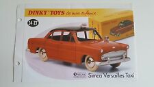 Dinky toys atlas-booklet only the simca versailles taxi (booklet only)