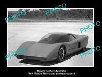 OLD LARGE HISTORIC PHOTO OF GMH HOLDEN HURRICANE PROTOTYPE LAUNCH c1969 5