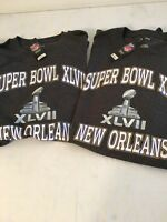 **NEW** LOT of 2) SUPER BOWL XLVII T SHIRTS--NEW ORLEANS--NFL--SIZE 2XL-2013-NEW