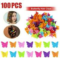 100pack Butterfly Hair Clips Mini Hairpin for Kids Women Girls-Cartoon Claw Clip