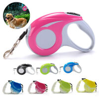 Retractable Pets Dog Lead Leash Walking Collar Automatic Traction Training Rope