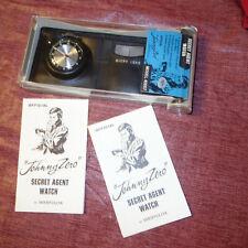 40007 Westclox Map Micro Lens (kf) Vtg Johnny Zero Secret Agent Watch Model
