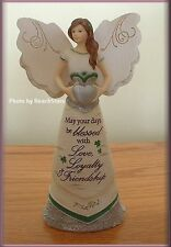 IRISH BLESSINGS ANGEL FIGURINE WITH CLADDAGH BY PAVILION ELEMENT FREE U.S. SHIP