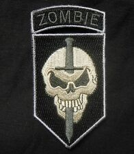 ZOMBIE SLAYER TACTICAL COMBAT KILLER TEAM OUTBREAK RESPONSE SWAT IRON ON PATCH