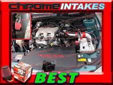 K&N+RED 97 98 99 00 01 02 03 CHEVY MALIBU 3.1 3.1L V6 FULL COLD AIR INTAKE 3pc