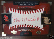 Stan Musial 2004 Super Rare Red Ink Sweet Spot Classic Signatures 6/10 Auto 1/1