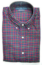 RALPH LAUREN BLUE RED FLANNEL PLAID SHIRT NEW TAG $90 BUTTON COLLAR SZ S