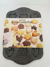 Norpro Cookie Molds Farm Cookie Pan Professional Essentials Non-Stick 3967 New.