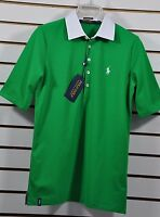 NWT Women's Ralph Lauren Golf, Woven-Collar Stretch Pique Polo. Size L. $89.50