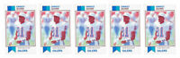 (5) 1993 SCD #33 Ernest Givins Football Card Lot Houston Oilers
