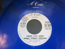 Berry Street Station 'Sweet City Song' PROMO 45 Mono/Stero