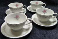 Fine China of Japan Royal Swirl Tea Cup Saucer Sets 4 Excellent
