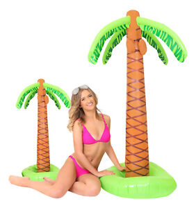 HUGE INFLATABLE PALM TREE 160CM BLOW UP SUMMER HAWAIIAN PARTY FANCY DRESS PROP