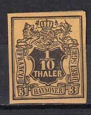 Hannover 1/10 Thaler Wert Wappen 1851 - sehr sauber, * ungebraucht mit Falz