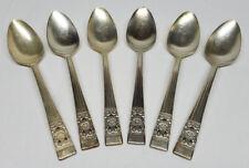 Vintage Oneida Community Silver Plate Coronation 6'' Spoon Lot of (6)
