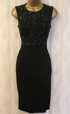 Needle & Thread Grid Embellished Top Mini Pencil Bodycon Fit Party Dress 8 36