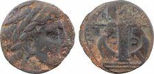 Macédoine, Olynthos, ligue chalcichienne, 430 350 av JC, X A L KID EON, RARE -50
