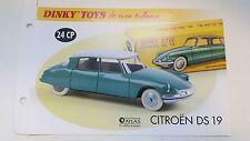 Dinky Toys Atlas - Fascicule SEUL de la Citroën DS 19 (Ref 24 CP)