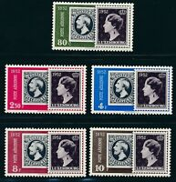 "LUXEMBOURG 1952, Mi. 490-94 **/MNH, ""100 years stamps"", very fresh and fine"