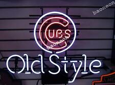 Rare Chicago Cubs Old Style MLB Baseball NEON SIGN BEER BAR LIGHT Free Shipping