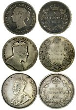 Premium Canadian Silver Coin Lot - 1896 5 Cent - 1906 50 Cent - 1911 5 Cent