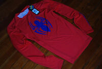 NEW Under Armour Alter Ego Red Spiderman 2 Compression L/S Shirt (Large) Marvel