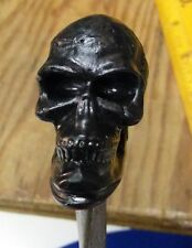 Black Skull - Trench Style Dagger - Spike Blade - Homemade