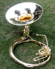 "Sousaphone 100% Brass 22"" Bb ""Chopra"" 3 VALVE WITH BAG MOUTH PIECE SHIP FAST"