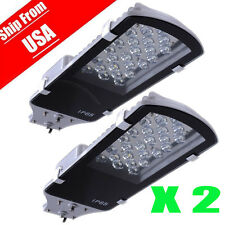 2PACK 24W LED Street Road Pathway Light Outdoor Industrial Cool White 85-265V MG