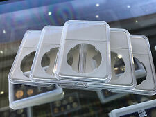 5 x 40mm Coin Slab Holder Clear Plastic Display Case White Insert, Aussie Seller