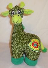 "Green Plush Giraffe Stuffed Green 15"" Sugar Loaf Recycled 2009"