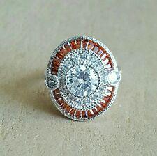 Tourmaline And Zircon Big Medallion Ring