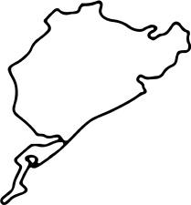Nürburgring Nordschleife viele Farben Größe 11 cm x 10 cm ANSEHEN