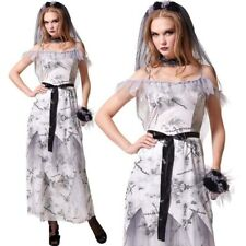 Ladies Zombie Corpse Bride Adult Womens Halloween Fancy Dress Costume Bouquet