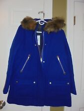 J CREW HOODED WOOL CHATEAU PARKA COAT,JACKET  SIZE-P2  #G9093