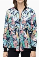 Calvin Klein Floral SET Bomber Jacket & Leggings Size L Zip Water Repellent NWT