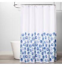 "Room Essentials - 72"" x 72"" White/Blue Creeping Floral Shower Curtain"