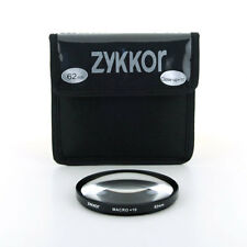 Zykkor 62mm Macro +10 Close Up Glass Filter Lens for SLR DSLR camera, US se